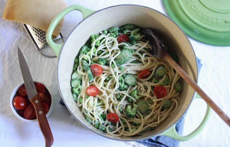 spaghetti primavera piatto del ristorante le cirque