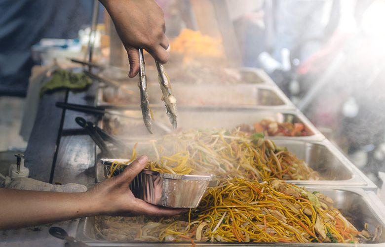 mangiare cinese a Chinatown, New York