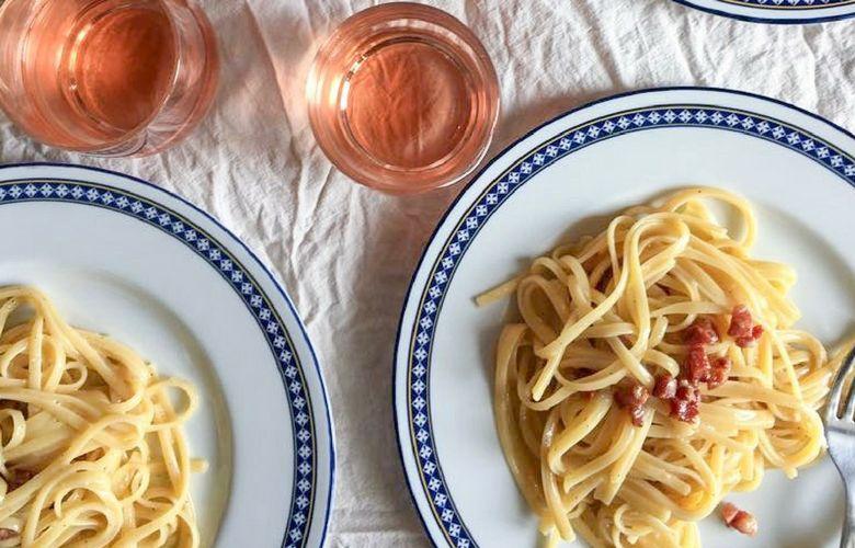 il vino migliore per la carbonara è rosé
