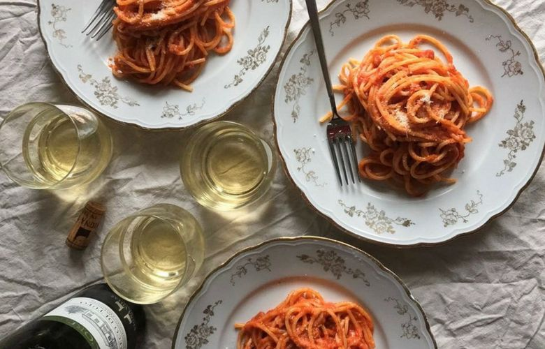 what to drink with amatriciana pasta
